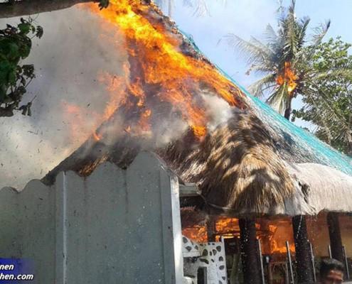 Feuer in El-Dorado Beach Resort