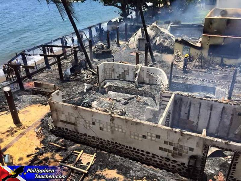 Feuer in El Dorado Beach Resort