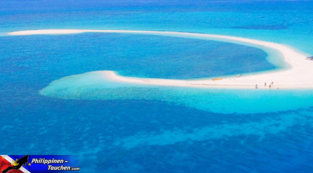 Weiße Sandbank vor Camiguin
